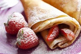 Strawberries and French Crepes