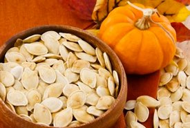 Bowl of Dried Pumpkin Seeds
