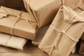Brown Paper Packages Tied Up in String