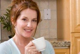Lady Enjoying Her Coffee