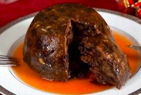 Plum Pudding Complete with Brandy Sauce