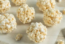 Popcorn Balls on Waxed Paper