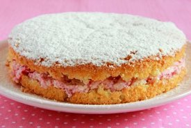 Victorian Sandwich Cake with Raspberry Jam Filling