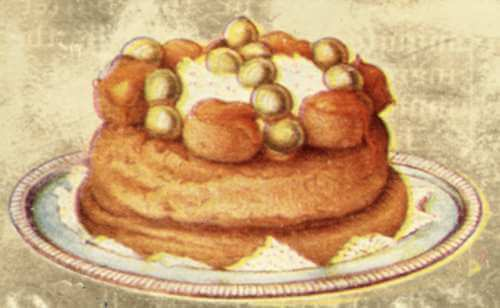Traditional Saint Honore Cake
