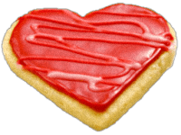 Red Valentine Heart Cookie