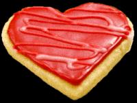Red Valentine Heart Cookie