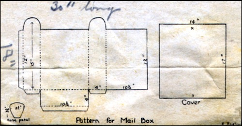 Vintage Template for Making a Cupid's Valentine Mailbox