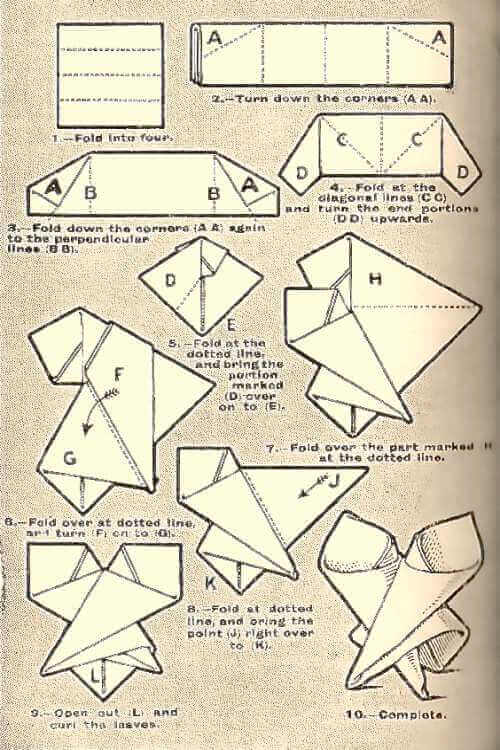 The Vase Napkin Fold