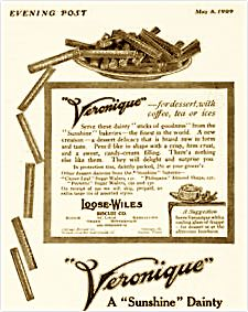 1909 Veronique Wafers Advertisement