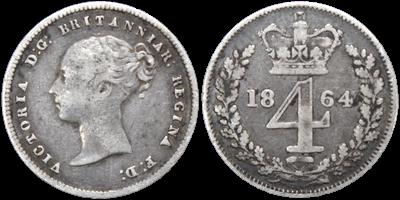 1864 British Fourpenny Piece