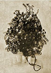 Victorian Hair Flower Bouquet
