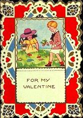 Cover Of Vintage Child Valentine Card, 1920