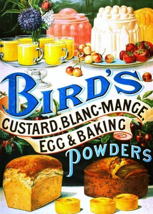 1920 Vintage Custard Powders Illustration
