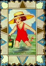 Vintage Kid's Valentine Card from 1920