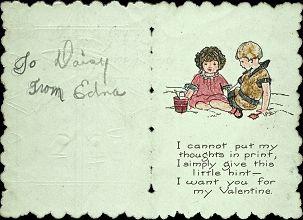 Chidren's Valentine Card 1920