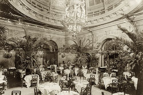 Palm Garden (Dining Room), Waldorf Astoria circa 1902