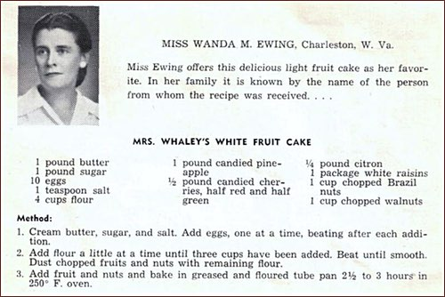 White Fruitcake Recipe