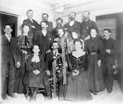 1905 Halloween Party at the Archibald Gentles Ranch in Alberta