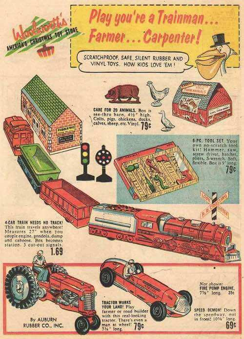 Illustration of 1950s Boy's Toys from Dell Comics