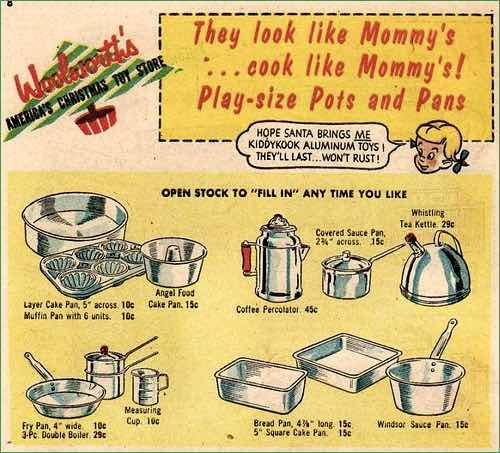 1950s Toy Kitchen Set
