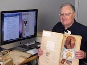 Don Bell with Vintage Recipe Scrapbooks