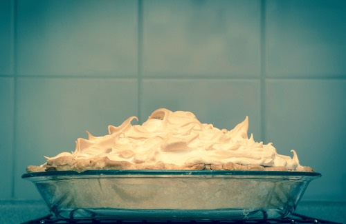Banana Cream Pie with Meringue Topping