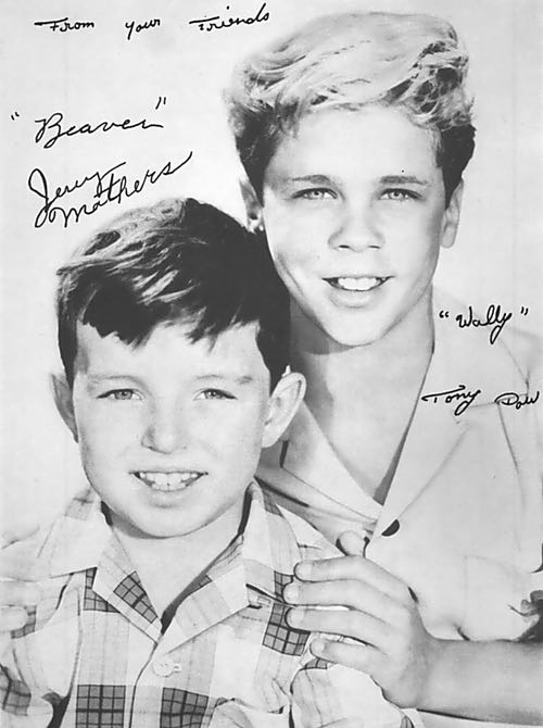 Jerry Mathers and Tony Dow of Leave It to Beaver