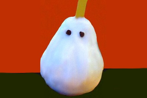 Pear Ghost for Halloween