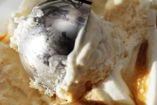 Scoop of Caramel Ice Cream