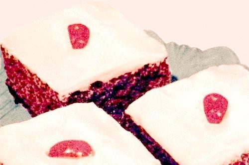 Chocolate Cake Squares Serving Idea