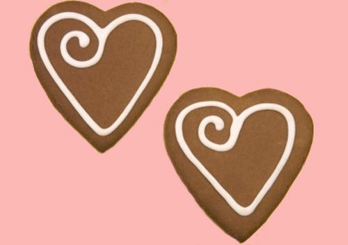Dutch Chocolate Heart Shaped Cookies