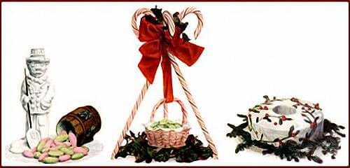 Three Vintage Christmas Centerpiece Ideas