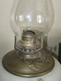 Lamp Oil Container and Chimney