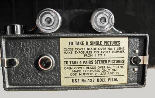 Back of a Coronet 3D Camera circa 1955