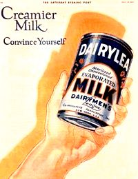 Vintage Can of Evaporated Milk from the 1920s