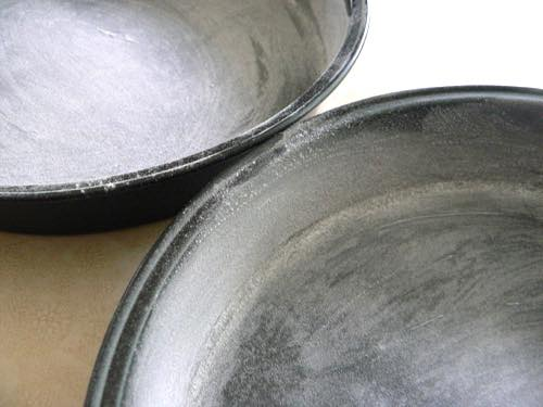 Greased and Floured Baking Pans