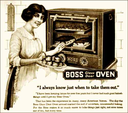 Vintage Ad for Glass Door Ovens