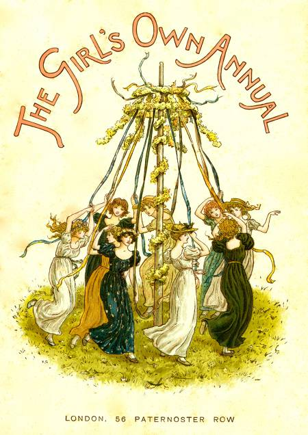 Illustrated Watercolor Frontispiece by Kate Greenaway 1846-1901