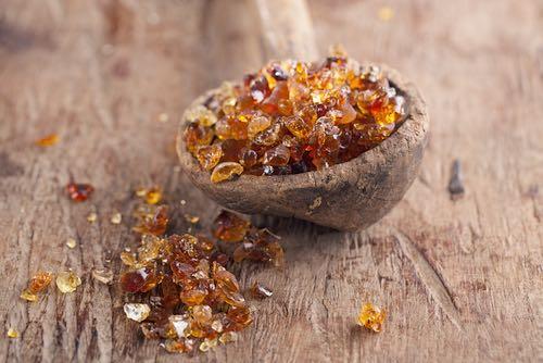 Gum Arabic Crystals in a Bowl