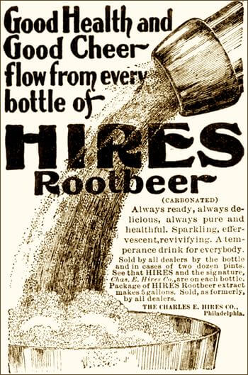 1897 Hires Root Beer Illustration