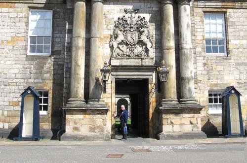 The Entrance of Holyrood Palace, Edinburgh