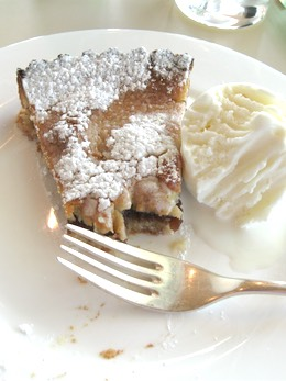Homemade Apple Pie with Ice Cream
