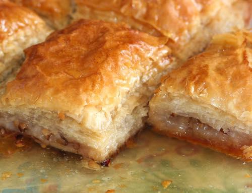 Homemade Greek Baklava with Walnuts