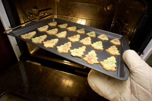 Tray of Homemade Sugar Cookies