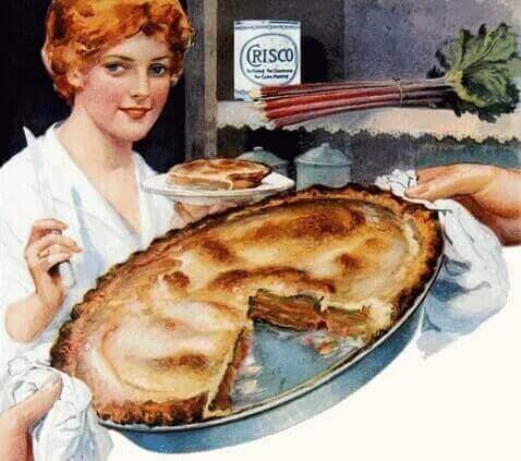 Vintage 1918 Homemade Rhubarb Pie Image