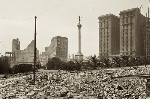The Hotel St Francis After the 1906 San Francisco Earthquake