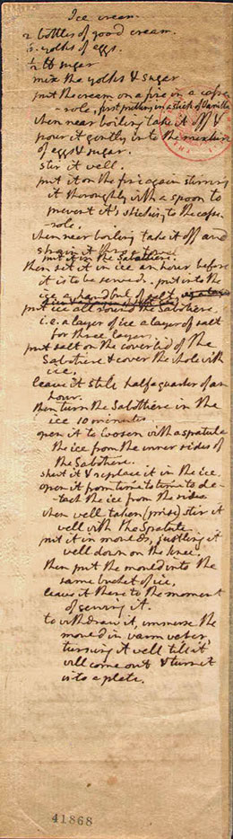 The Original Thomas Jefferson Ice Cream Recipe to use for National Ice Cream Day