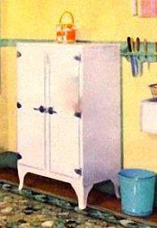 Old Fashioned Kitchen Icebox
