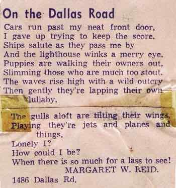 On the Dallas Road Poem