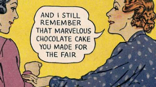 Marvelous Newspaper Clipping About a Chocolate Cake